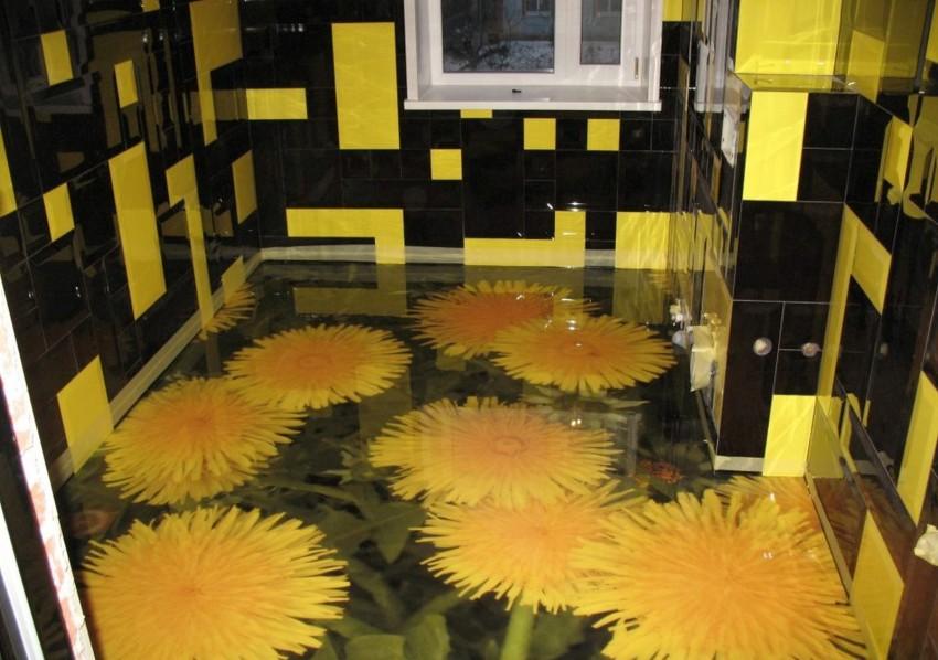 3д полы в ванной - примеры обустройства и укладки своими руками. 115 фото монтажа оригинальных дизайнерских решений