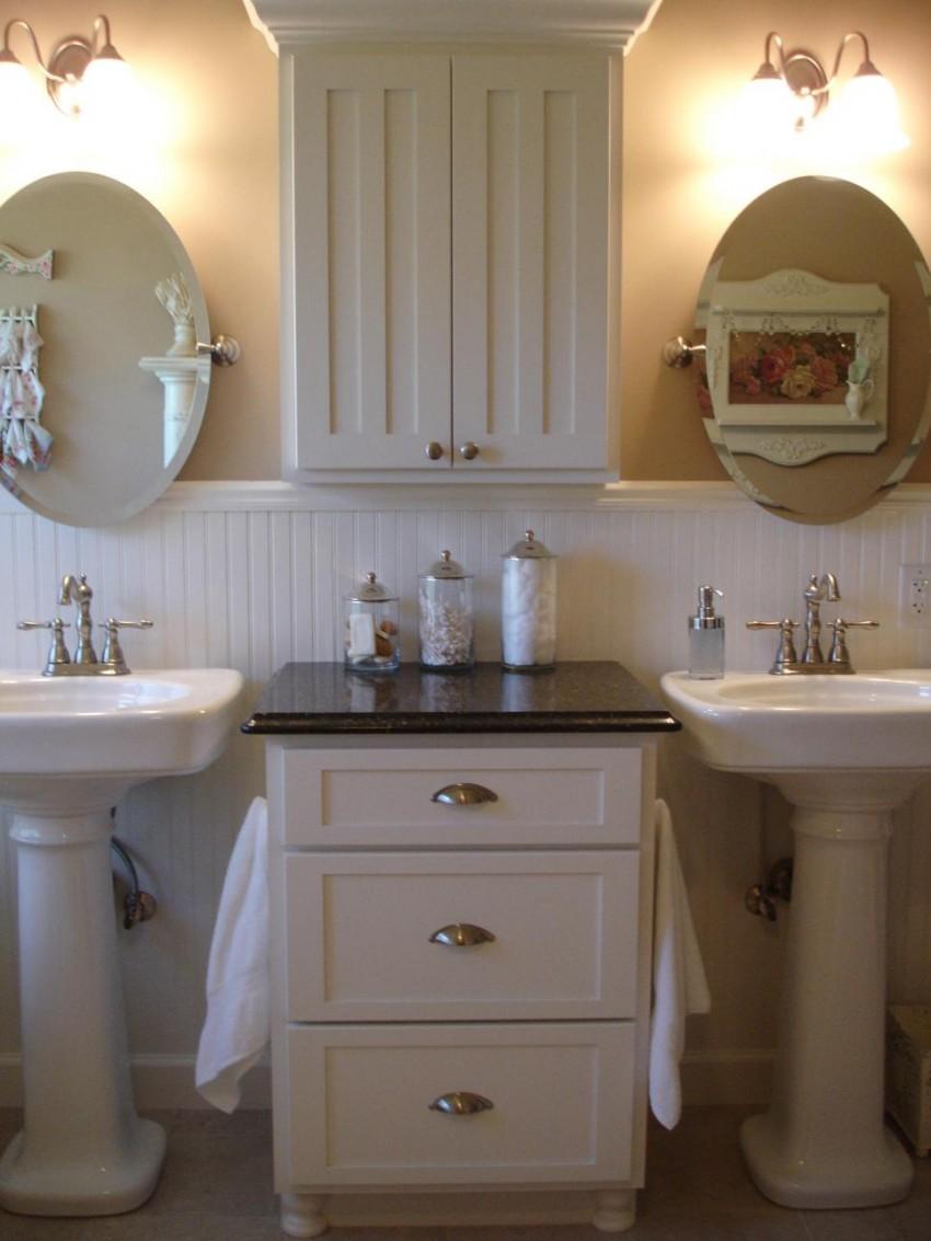 Белая мебель для ванной - подбор оптимальных комплектов и сочетаний. 135 фото лучших водостойких элементов мебели