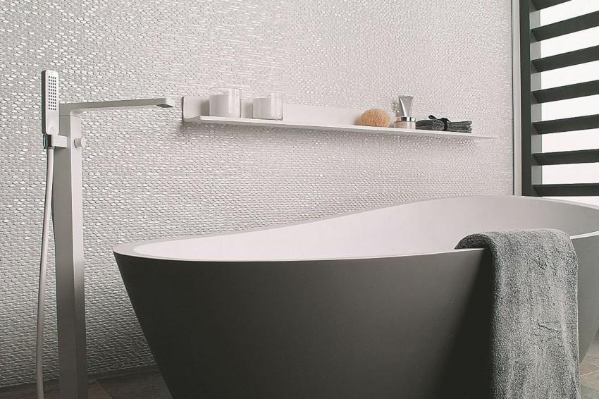 Белая плитка в ванной - 145 фото лучших идей применения и сочетания со стилем ванной комнаты