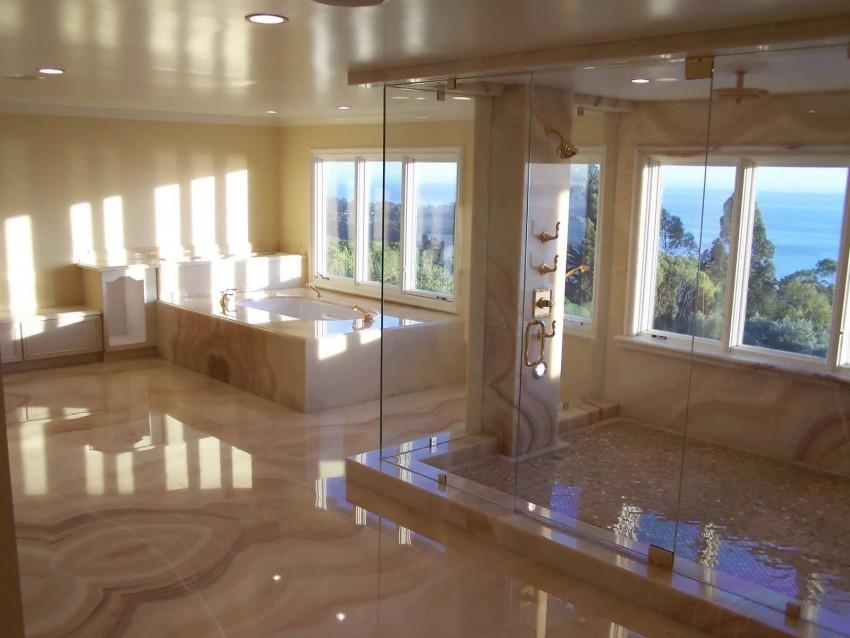 Большая ванная - особенности интерьера и оптимальное размещение мебели. 135 фото лучших идей