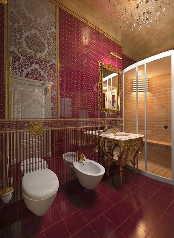 Ванные комнаты цвет бордо купить смеситель для ванны с душем в вологде