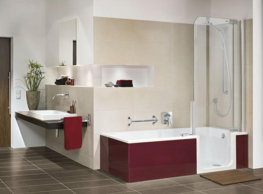 Бордовая ванная - особенности изысканных сочетаний и специфика применения цвета (90 фото)