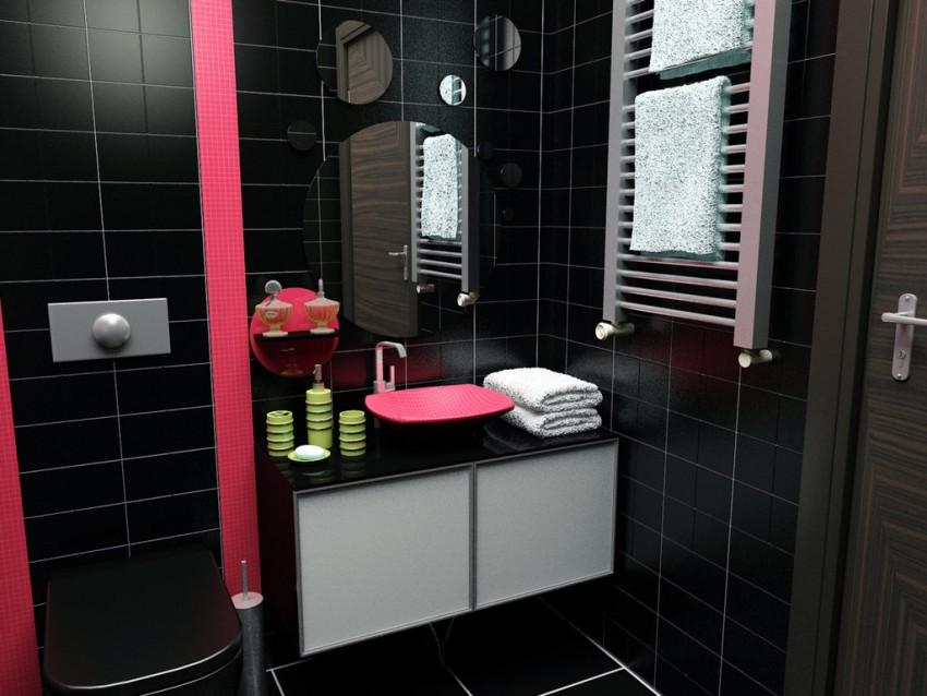 Черная ванная: преимущества и недостатки оригинального оформления ванной комнаты (150 фото)