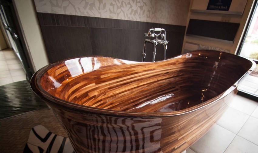 Деревянная ванная: оригинальный дизайн и советы по размещению в ванной комнате (110 фото-идей)