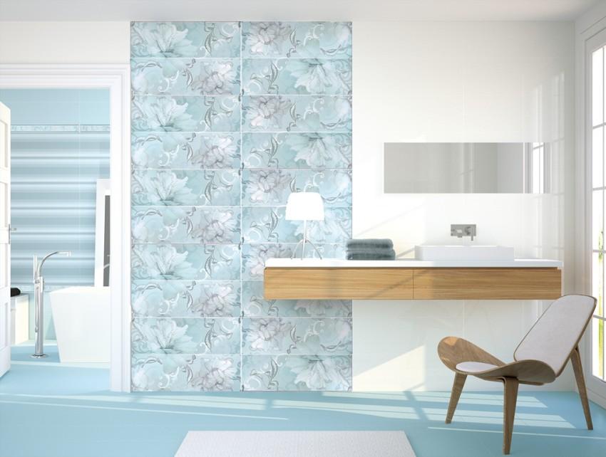 Дизайн плитки в ванной: красивый и оригинальный формат современной плитки (105 фото)