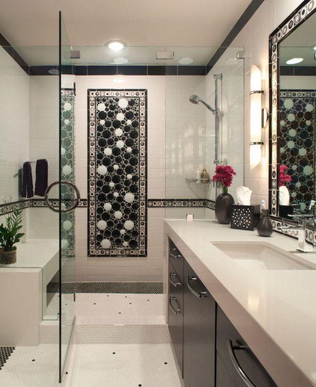 Фотоплитка для ванной - правильная установка модной плитки с реалистичными рисунками (110 фото)