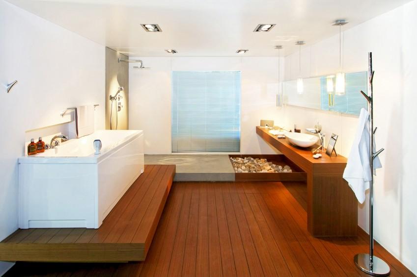 Как сделать пол в ванной - пошаговая установка по укладке покрытия своими руками (105 фото)