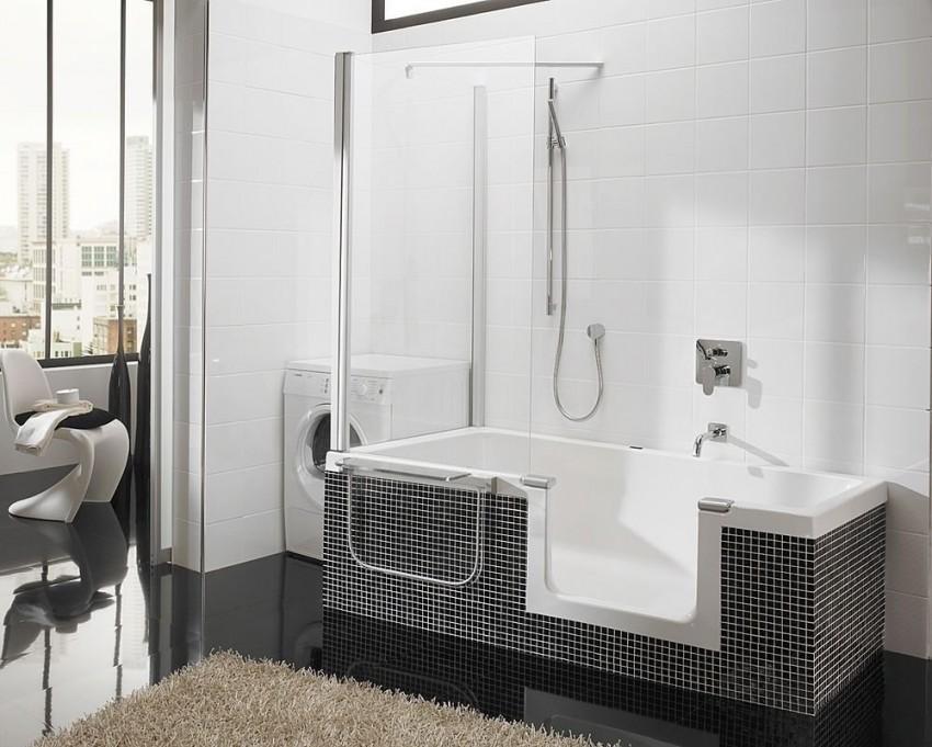 Карниз для ванной - угловая и прямая штанга для душа. 115 фото выбора и установки карниза