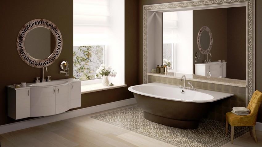 Коричневая ванная: изысканный дизайн и оптимальные сочетания интерьера (145 фото-идей)