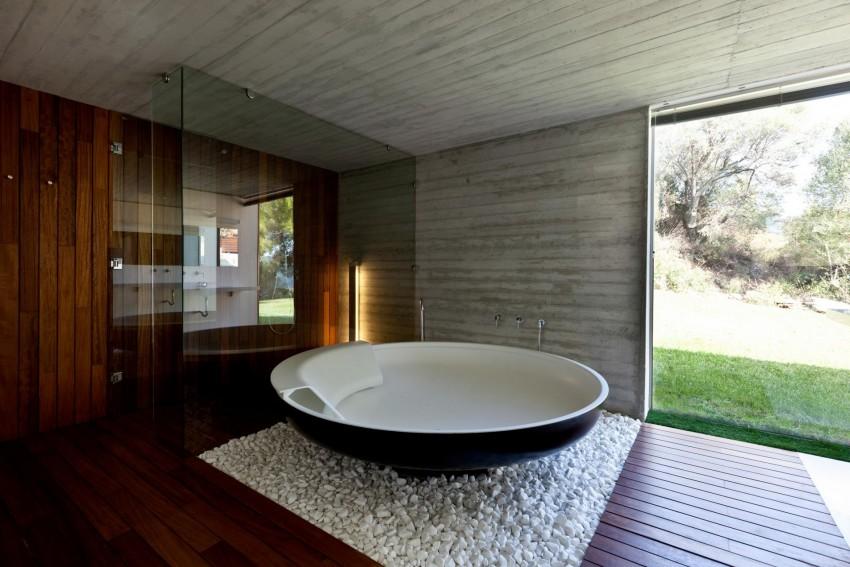 Круглая ванная - полезные советы по применению стильных круглых, полукруглых и овальных вариантов (115 фото)