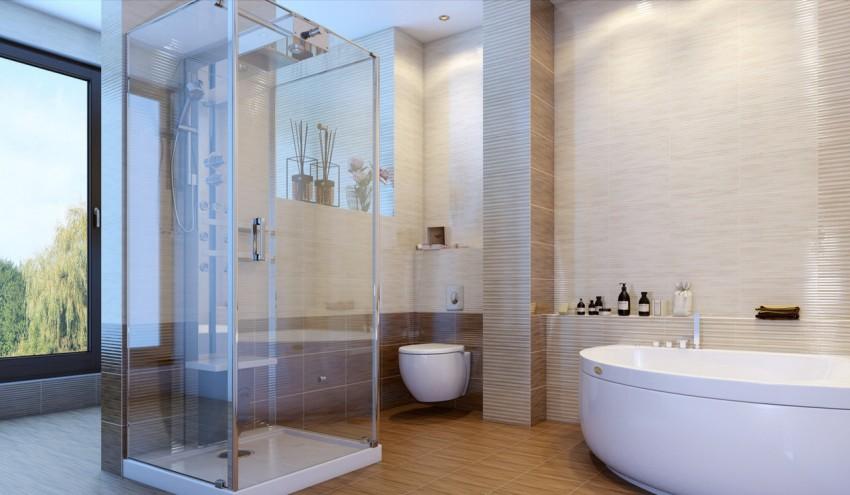 Ламинат для ванной: выбор водостойких конструкций и особенности применения ламината (75 фото)