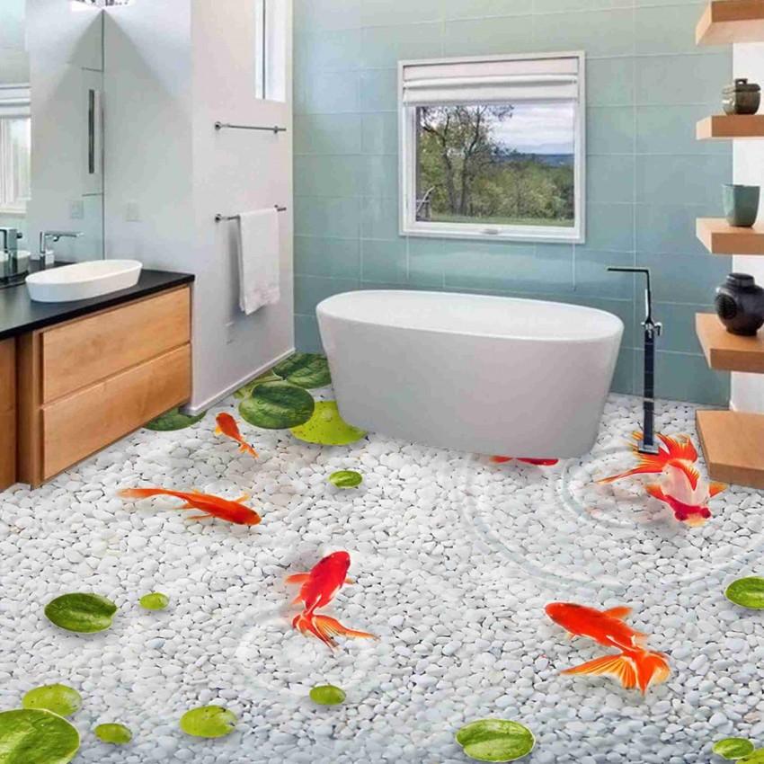 Наливной пол в ванной - варианты применения и технология укладки своими руками (70 фото)