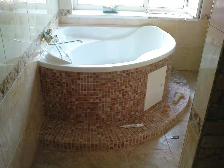 Отделка ванной плиткой - основные принципы, идеи оформления, этапы и технологии отделки (110 фото)