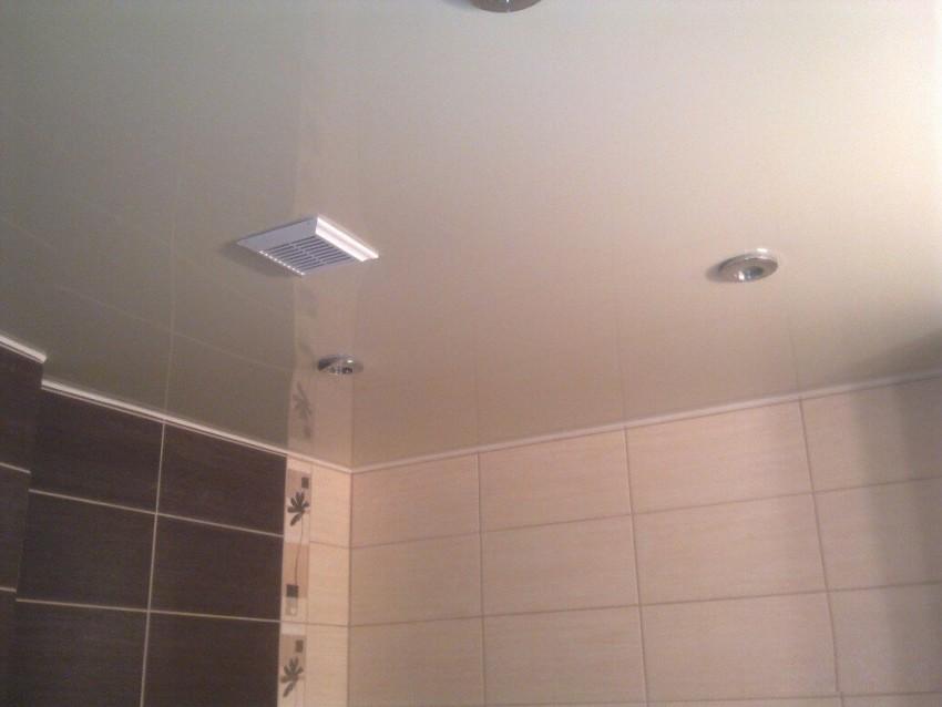 Пластиковый потолок в ванной: 110 фото выбора оптимальных конструкций, панелей и освещения
