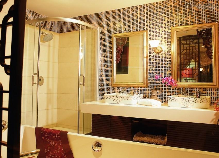 Плитка-мозаика: 130 фото применения и варианты стильных украшений ванной