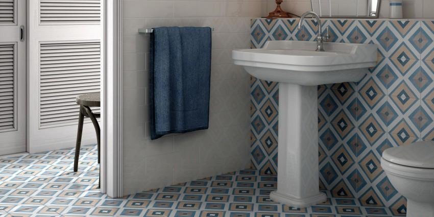 Плитка на пол в ванной - пошаговая инструкция по укладке оптимального напольного покрытия (120 фото)