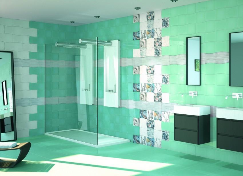 Плитка в ванную на стены - отделочные работы и укладка плитки своими руками (75 фото)