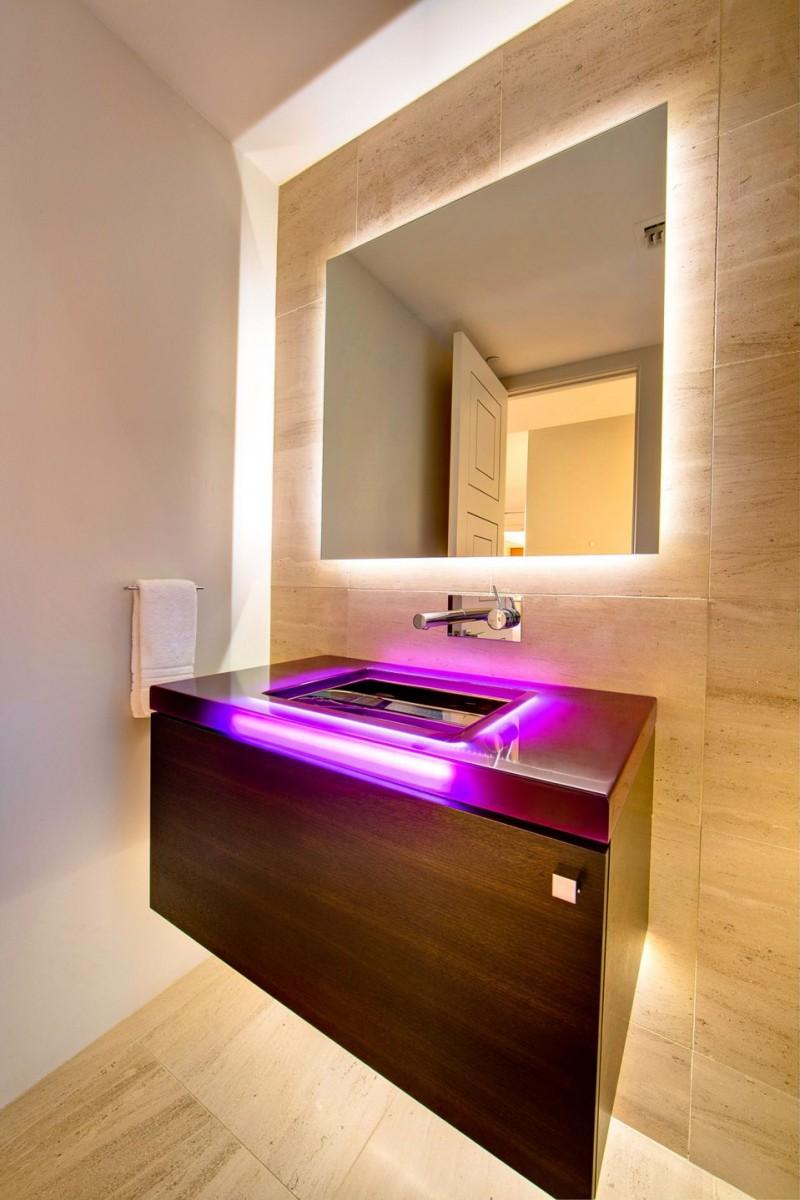 Подсветка в ванной: советы по применению освещения и стильный формат дизайна (100 фото)