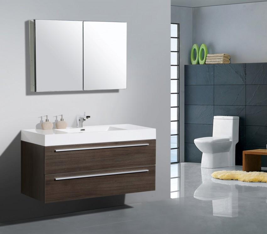 Подвесная мебель для ванной - рекомендации подбора комплекта и оптимальные сочетания с дизайном ванной (105 фото)
