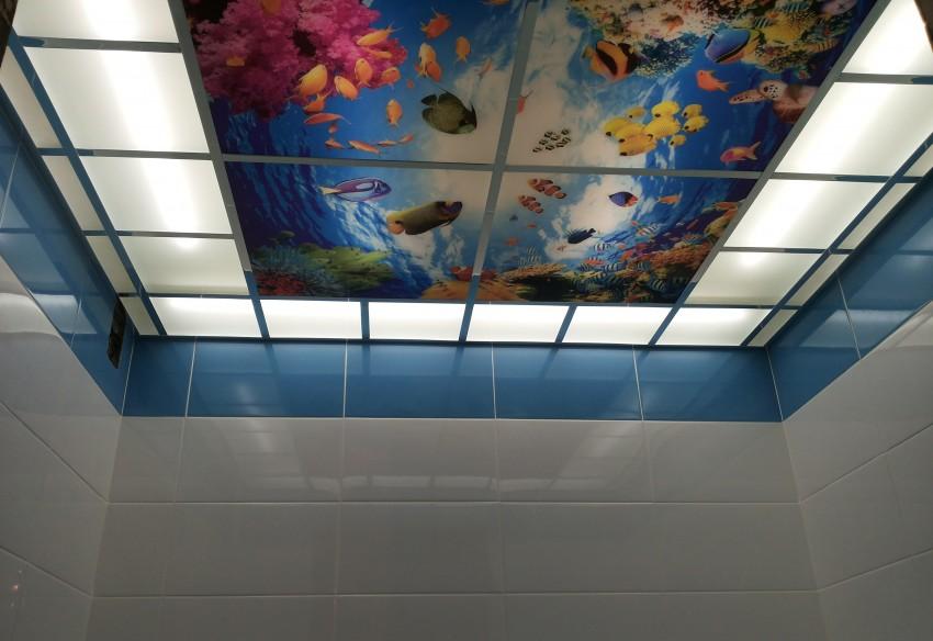 Подвесной потолок в ванной - лучшие идеи, самостоятельная установка и разновидности современных конструкций (100 фото)