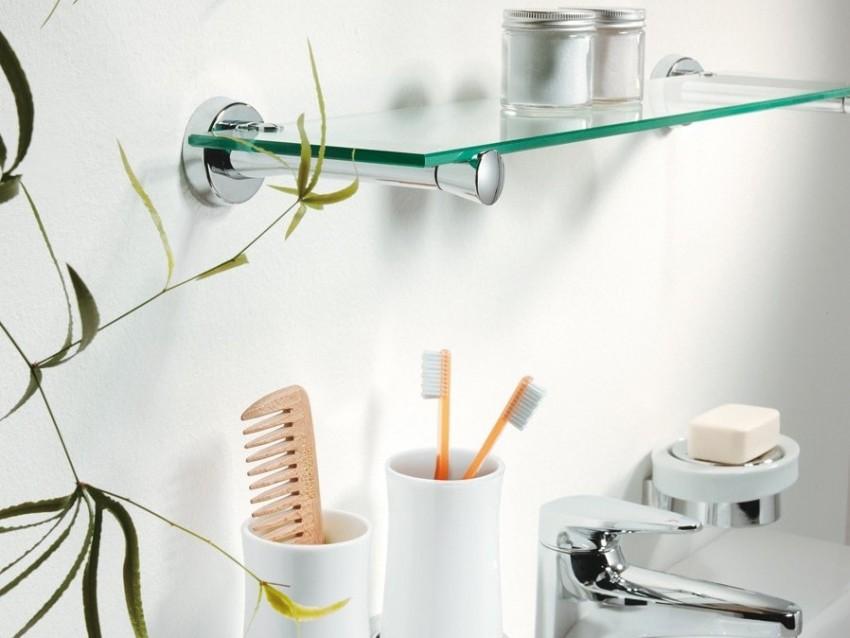 Полки для ванной комнаты - подбор материалов, оптимальные конструкции и правильная установка своими руками (110 фото)