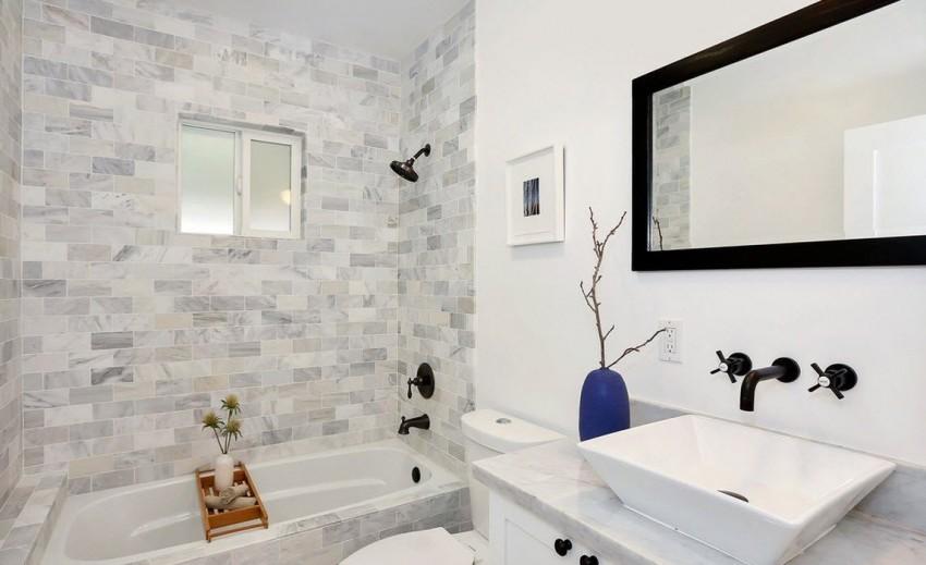 Раскладка плитки в ванной - 135 фото правильного размещения облицовочного материала