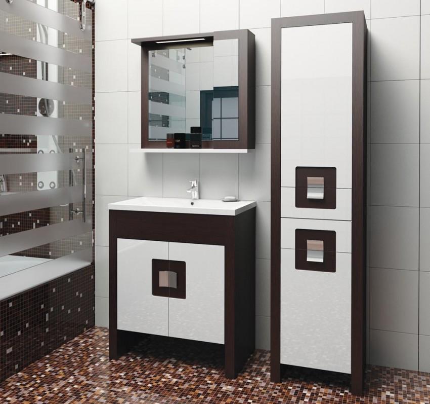 Шкаф-пенал для ванной - подбор лучших напольных и настенных моделей (90 фото)