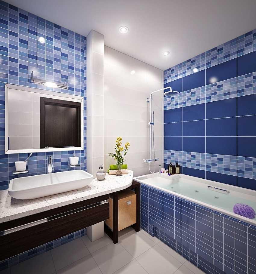 Синяя ванная - 125 фото лучших дизайнов и современных необычных сочетаний