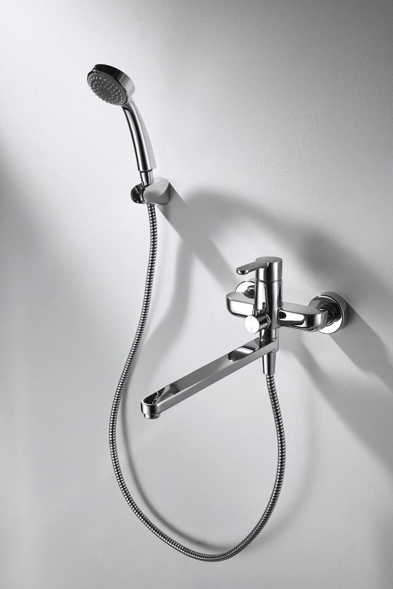 Смеситель с длинным изливом: универсальные элементы и лучшие проекты для современной ванной (95 фото)