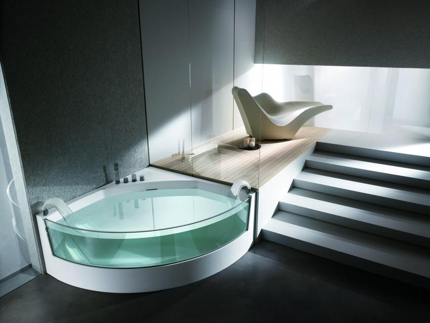 Стеклянная ванная: модные тенденции, плюсы, минусы выбора и оптимальный стиль (105 фото)