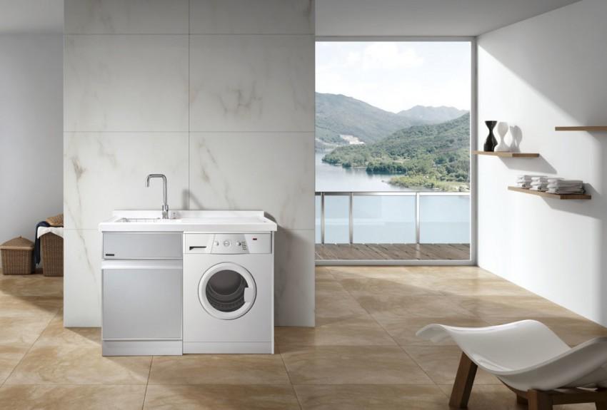Стиральная машина в ванной: как устанавливать и особенности монтажных работ (110 фото)