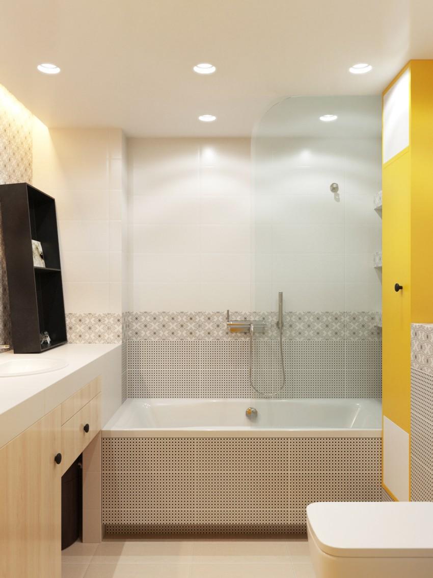 Дизайн плитки в ванную цвет