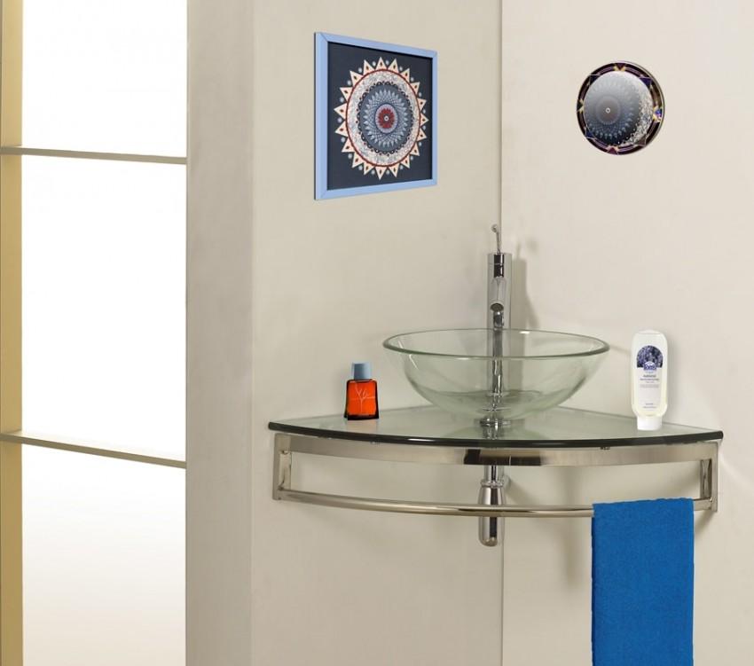 Угловая раковина - 115 фото преимуществ установки и оптимальных решений по экономии места