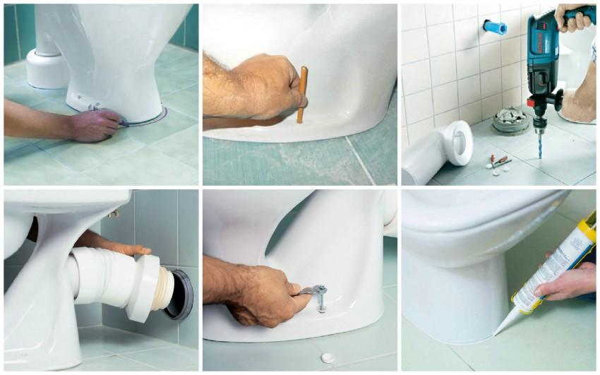 Установка унитаза: пошаговая детальная инструкция по подключению и монтажу (120 фото)