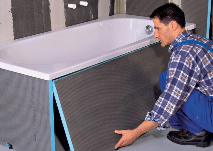 Монтаж ванной: как производится правильная установка и подключение современных ванн (105 фото)