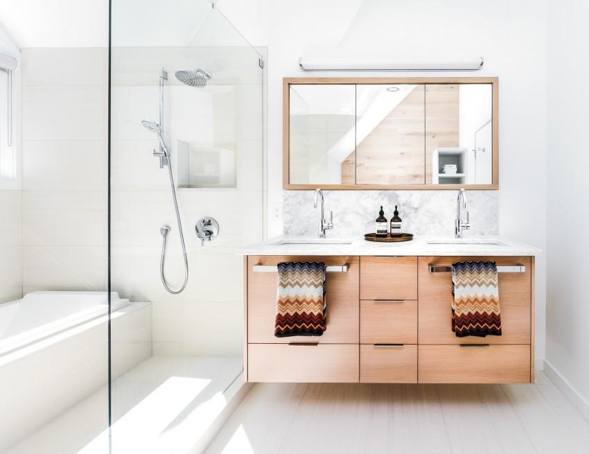 Ванная в скандинавском стиле - простые и доступные правила оформления и идеи интерьера (115 фото)