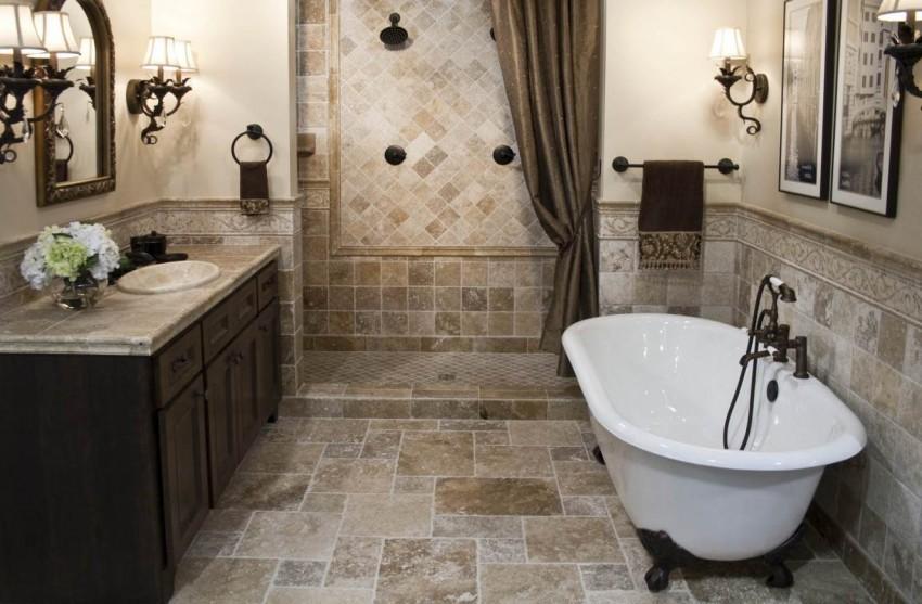 Ванная в классическом стиле - 105 фото лучших идей дизайна, оформления и стильного украшения