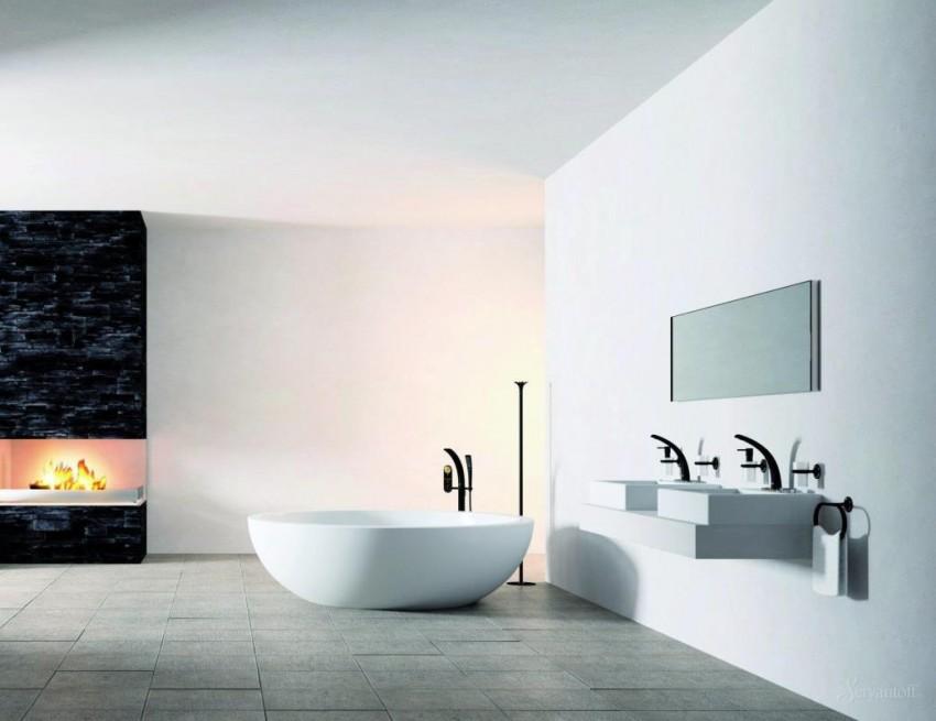 Ванная в стиле Хай-Тек: необычный современный дизайн и простое, стильное обустройство ванной комнаты (110 фото)