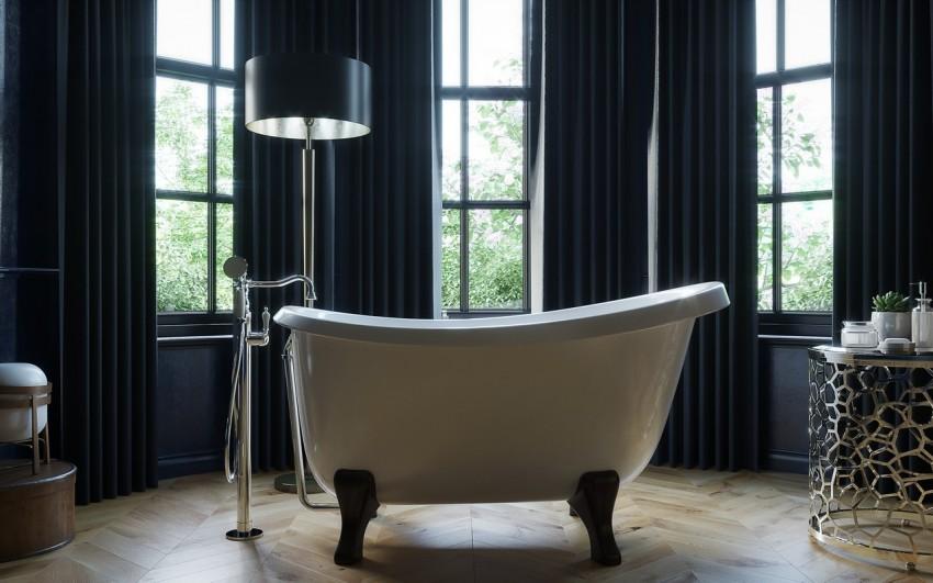 Высота ванной от пола: стандарты, правильная установка и общие советы по размещению (85 фото-идей)