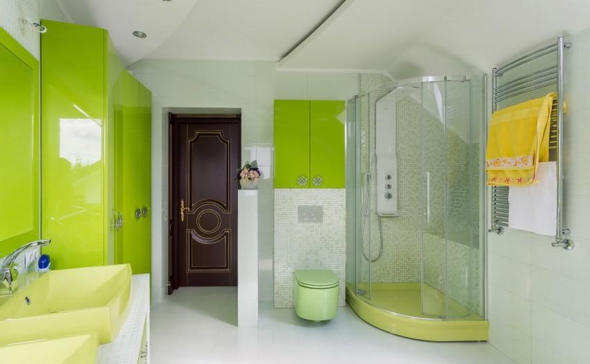 Желтая ванная комната - оптимальные цветовые сочетания и примеры жизнерадостного дизайна (110 фото)