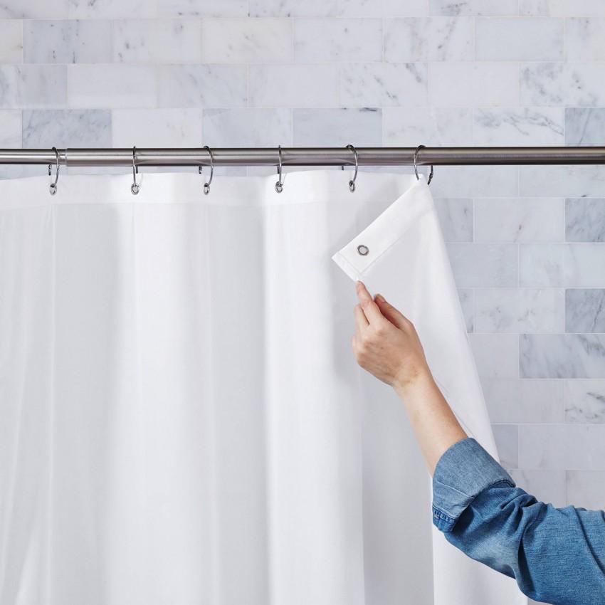 Занавеска для ванной: критерии грамотного выбора и лучшие варианты установки разных конструкций (90 фото)
