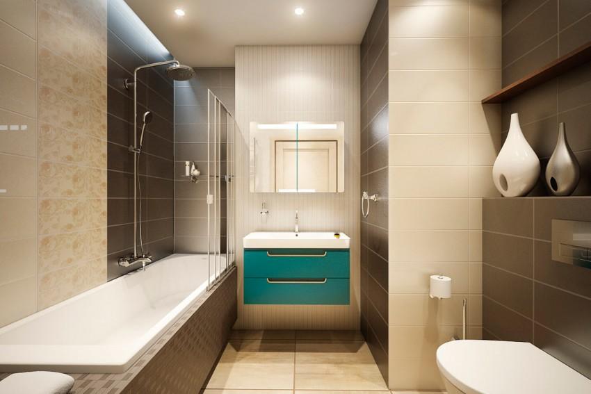 Ванная 4 кв. м. - оптимальные идеи интерьеров и тенденций современного оформления (120 фото)