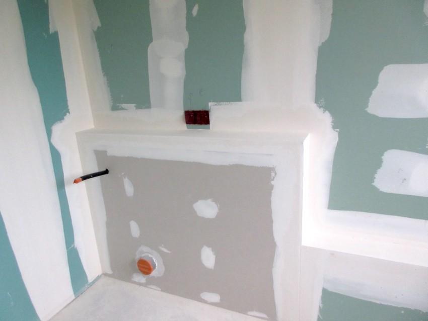 Гипсокартон в ванной - основные характеристики влагостойких и особо прочных листов гипсокартона (80 фото)