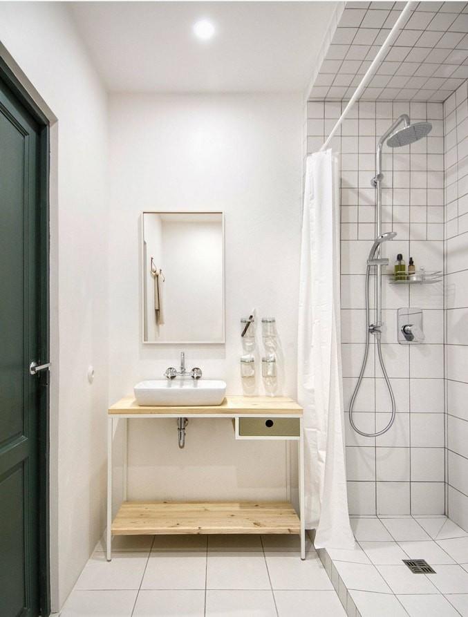 ванная с душевой в стиле минимализм