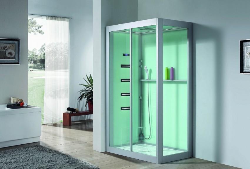 современный дизайн ванной с душевой кабиной фото