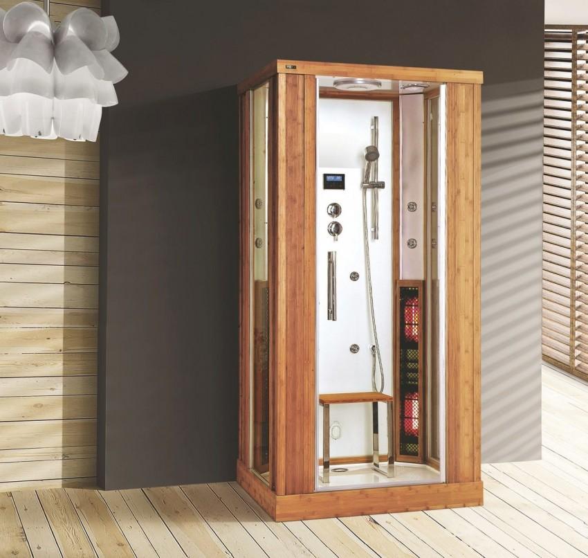 деревянная душевая кабина фото