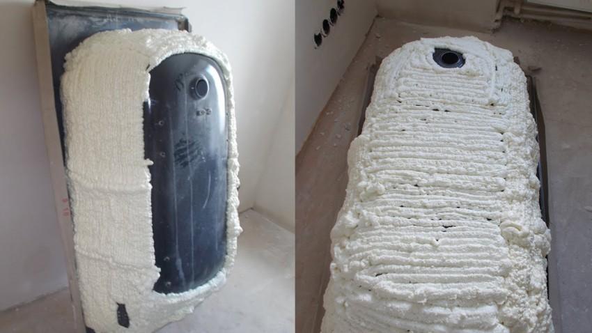 Монтажная пена для утепления стальной ванны