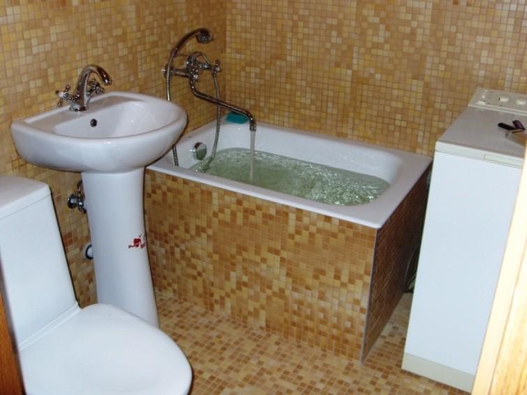 сидячая ванна для маленькой ванной комнаты
