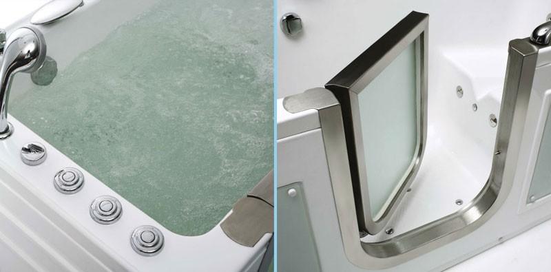 дверка в сидячей ванне